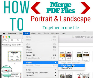 How to merge portrait and landscape PDF files on a Mac