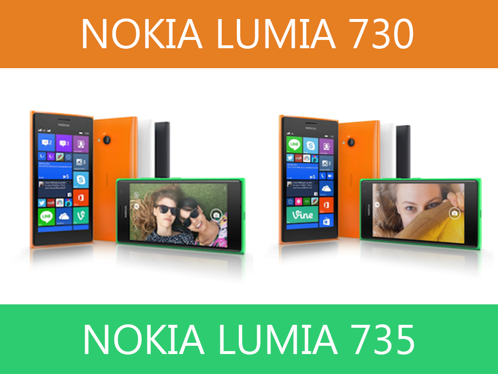 Lumia 730 Dual SIM and Lumia 735: Built for Skype and selfies