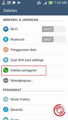 Silakan kalian buka pengaturan dan pilih Setelan Panggilan untuk mengaktifkan fitur merekam panggilan telepon di Smartphone Android
