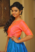 Nithya Shetty in Orange Choli at Kalamandir Foundation 7th anniversary Celebrations ~  Actress Galleries 076.JPG