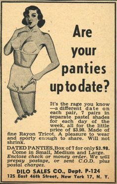 """Are your panties up to date?"""