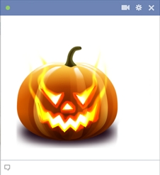 Jack-o'-lantern - Carved Pumpkin Halloween Emoticon For Facebook