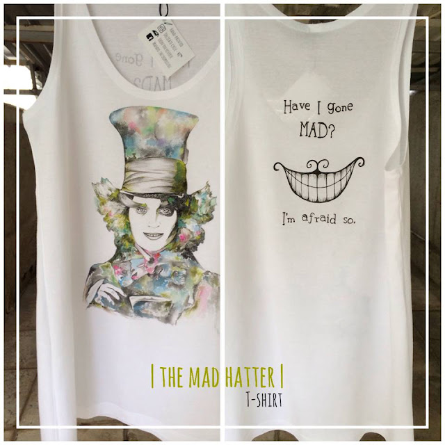 Mad Hatter T shirt by Mando