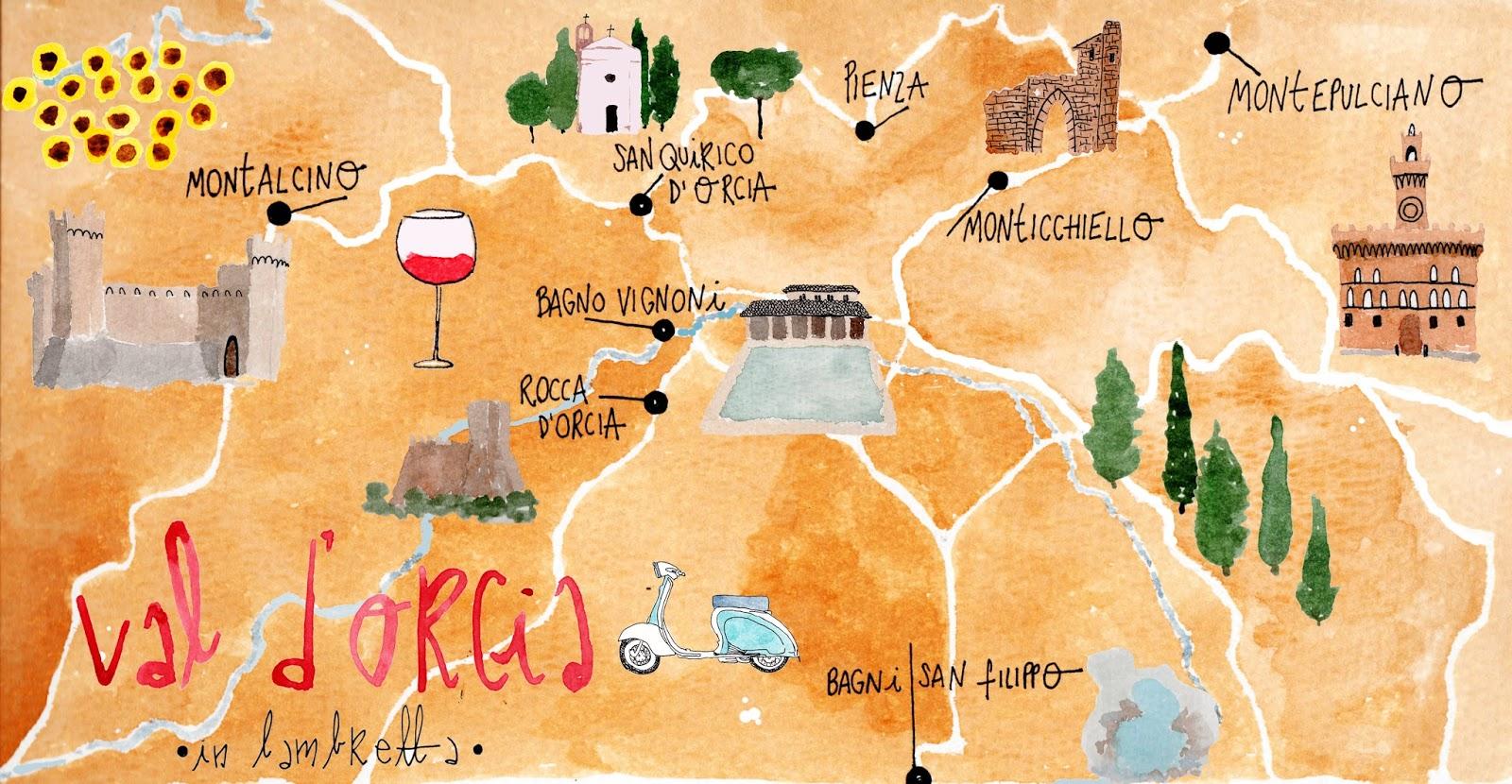 i diari della lambretta vintage tour in Val dOrcia