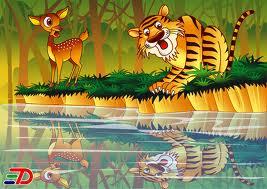 Harimau Dengan Bayangbayangnya  Himpunan Cerita Kanakkanak