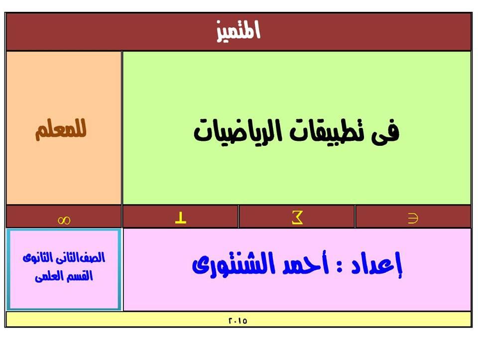 مراجعة ليلة الامتحان الرياضيات للصف الثاني الثانوى الترم الأول و الثاني 2022