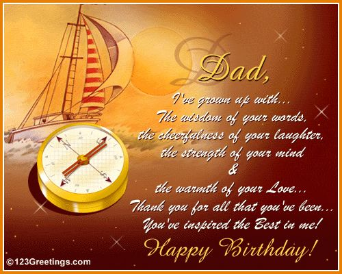 Inspirational Birthday Wishes for Dad from Daughter Romantic – Birthday Greeting Words