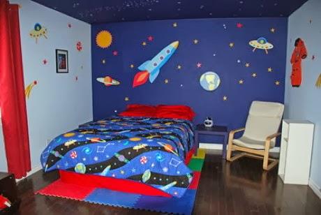 Dormitorios para ni os tem tica universo dormitorios for Dormitorios tematicos