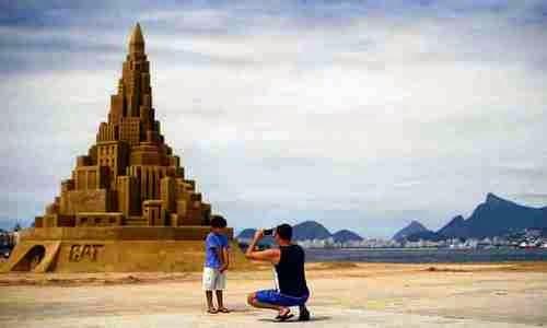 12-метровый песчаный замок