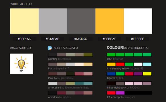 موقع إستخراج أكواد الألوان من الصورة