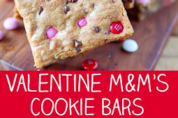 M&M'S Valentine's Day Cookie Bars Recipe