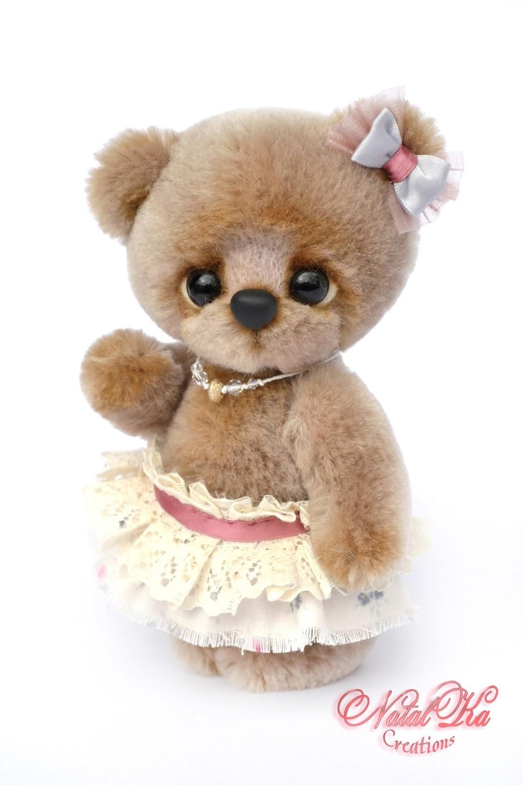 Artist teddy bear, bear handmade, jointed, ooak, Künstlerteddy, Künstlerbär, Teddybär, handgemacht von NatalKa Creations