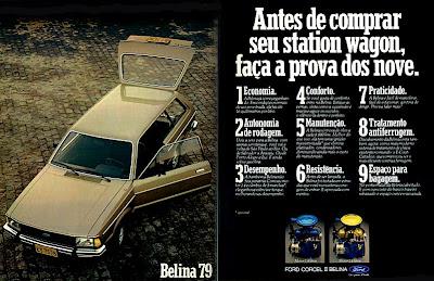 propaganda Belina - 1979. propaganda anos 70. propaganda carros anos 70. reclame anos 70. Oswaldo Hernandez.