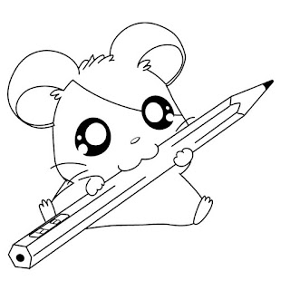 Cute Baby Animal Coloring Sheet For Kids