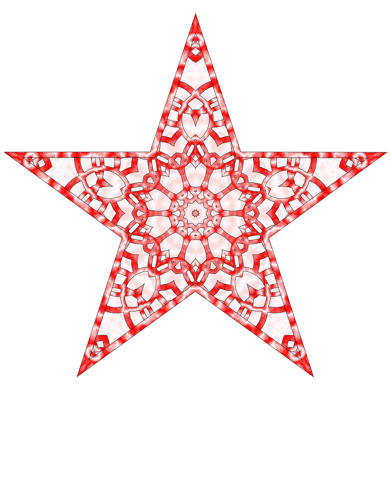 Star For A Christmas Tree: Don't Eat The Paste: Printable Paper Star Tree Topper