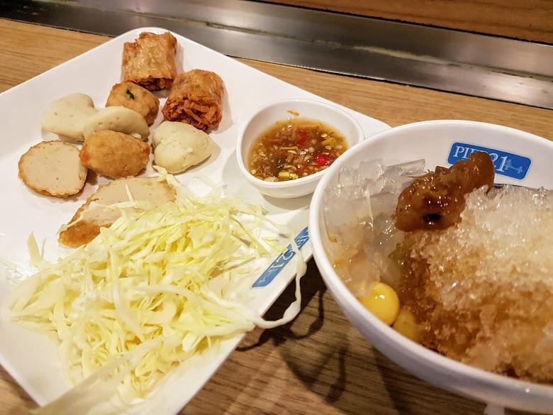曼谷之行的最後下午茶,魚漿丸以及甜點