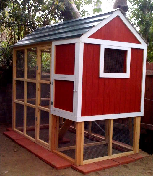 Two men and a little farm red chicken coop dreaming for Cool chicken coop plans