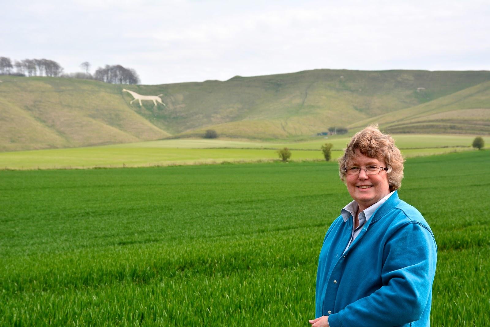 Nana at Cherhill White Horse in Wiltshire