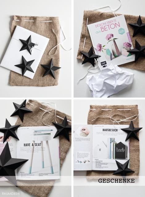 Weihnachtsgeschenke schön verpackt.