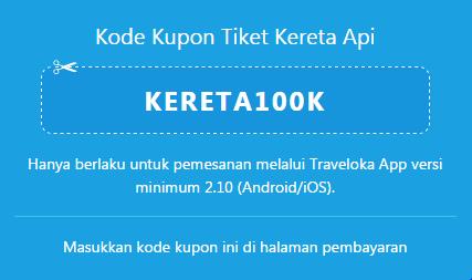 Traveloka Kode Kupon Tiket Kereta