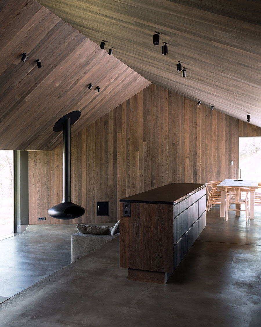 Concrete Cabin A Merry Mishap Blackened Timber Cabin In Norway