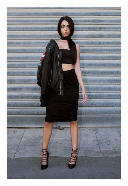 "<img src=""outfit.jpg"" alt=""Black Leather Bomber jacket sexy outfit lookbook 2016"">"