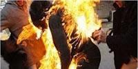 بنزرت:مراة تضرم النار في جسدها