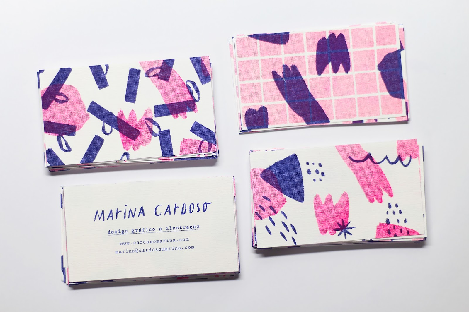 Good design makes me happy marina cardoso business cards beautiful playful bright illustrations make marina cardosos personal business cards such a delight via fpo magicingreecefo Image collections