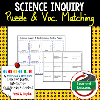 Science Inquiry, Physical Science Puzzles, Physical Science Digital Puzzles, Physical Science Google Classroom, Vocabulary, Test Prep, Unit Review