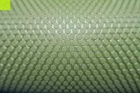 Noppen: Yogamatte aus natürlichen Gummi (Kautschuk) - »Rubin« 183x61x0,4cm - sehr rutschfeste Matte für Yoga : ideal für Yogalehrer & Yogastudios (Studio-Qualität). Erhältich in 6 Trendfarben : pink hellblau grün lila navyblau & schwarz. Exzellent geeignet für Yogaübungen (Asanas), Pilates & Gymnastik - die perfekte Fitnessmatte / Sportmatte dank innovativer Oberflächenstruktur - ökologisch korrekt hergestellt & REACH geprüft (keine Schadstoffe)