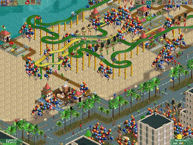 RollerCoaster Tycoon 2 Gameplay
