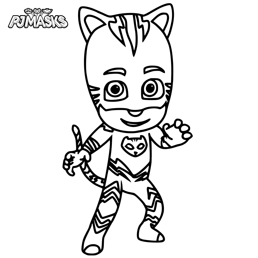 It's just a graphic of Pj Masks Coloring Pages Printable with regard to children's