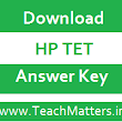 HP TET Urdu/Punjabi Answer Key 2017 (17th Sept.)