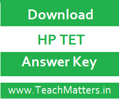 image : HP TET TGT Arts Answer Key @ TeachMatters