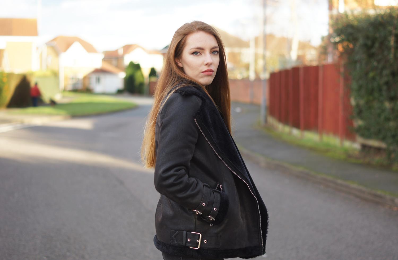 acne shearling jacket dupe