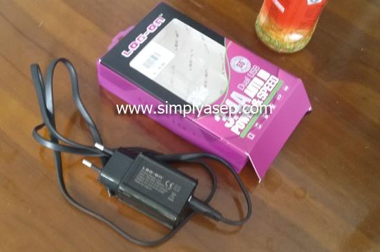 BARU : Inilah jenis charger yang saya beli saat trip di Tanggerang beberapa hari yang lalu. Harga 99K, dan bisa digunakan  untuk dua perangkat pengisian. Foto Asep Haryono