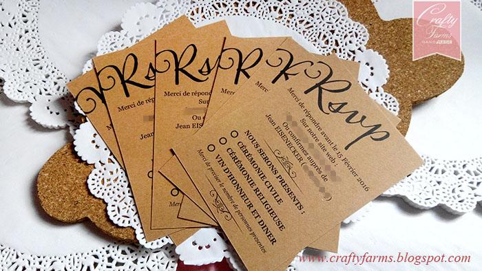 Wedding Card Malaysia Crafty Farms Handmade  Rustic French