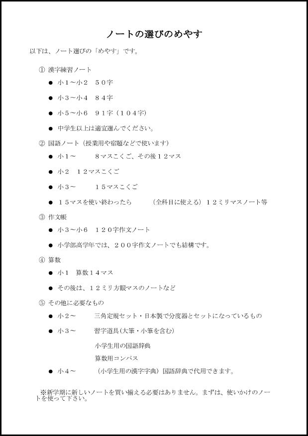 ノートの選びのめやす 015