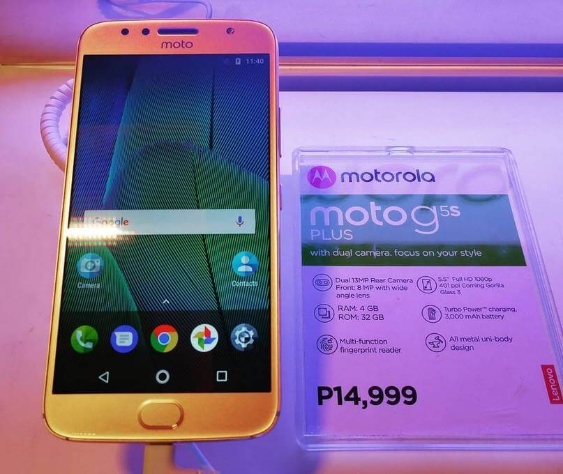 Motorola Moto G5s Plus Now in the Philippines; Octa Core, 4GB RAM, Dual Rear Cameras for Php14,999