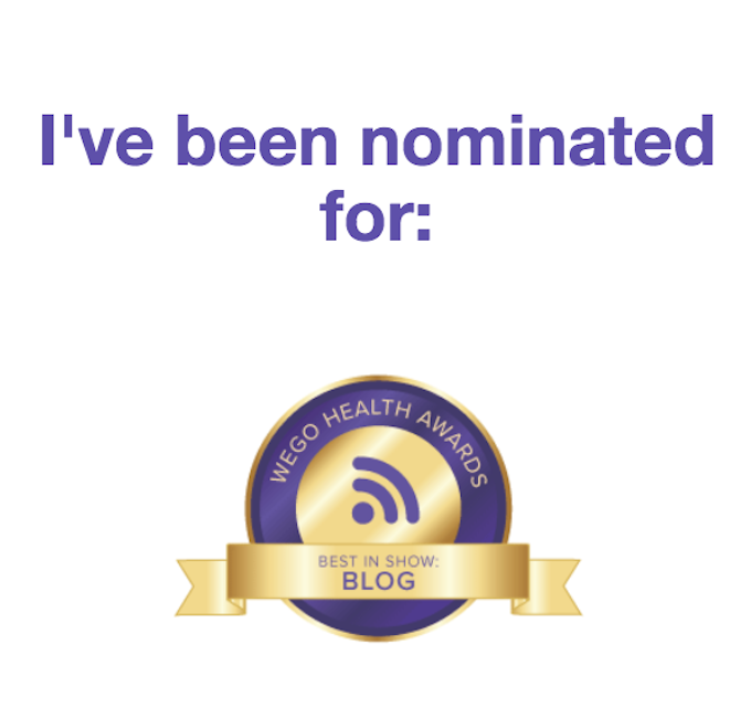 Nomination 2018 for the WEGO Health Awards