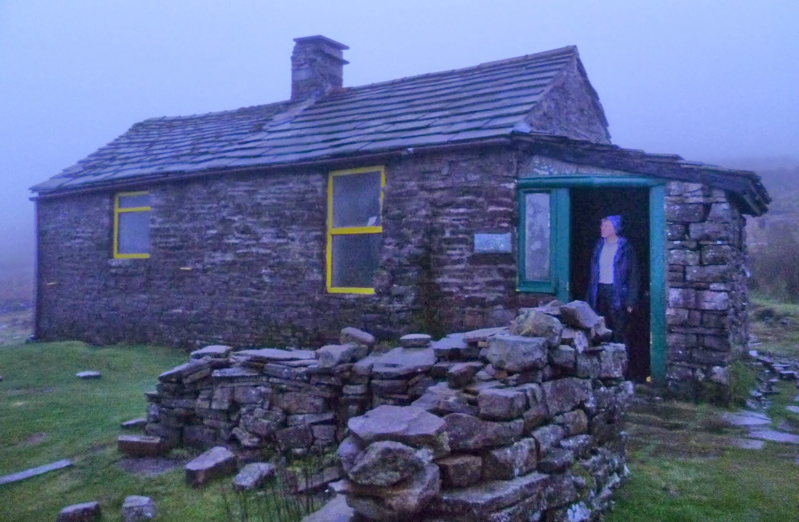 We Arrived At Gregs Hut Just Before It Got Properly Dark Sorry About The Grainy Pic S A Miracle Took One All