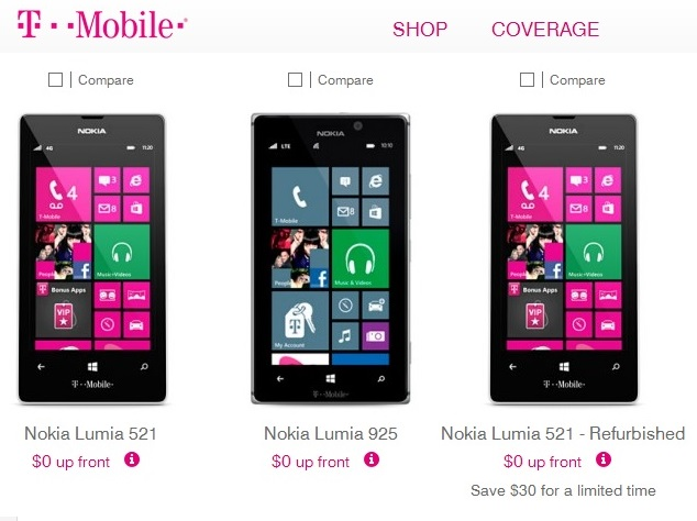 Cheap Nokia Lumia on contract