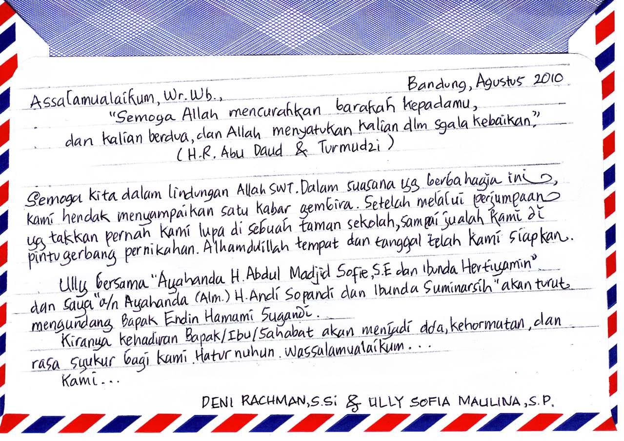 Contoh Surat Pribadi Dalam Bahasa Inggris Untuk Teman Sebangku