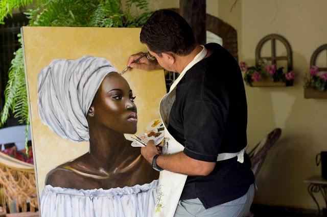 Em Brasília Exposição de Artista Plástico Goiano homenageia Ícones negros