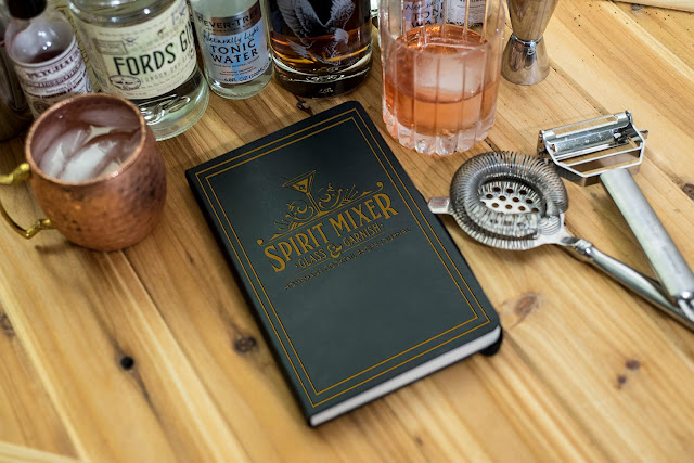 Spirit, Mixer, Glass & Garnish Cocktail Journal