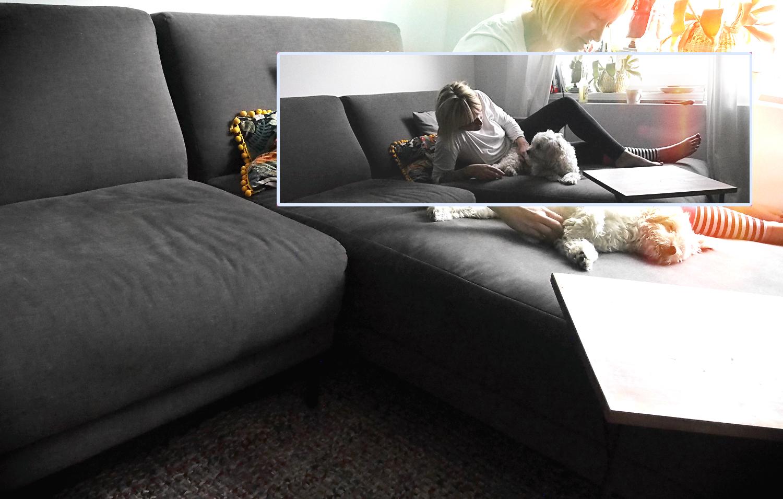 Wochenende: Ab auf die Couch. Kuscheln und es sich bequem machen. Und doch frei sein wie Pippi Langstrumpf.