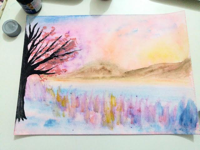 Landscape Painting Process