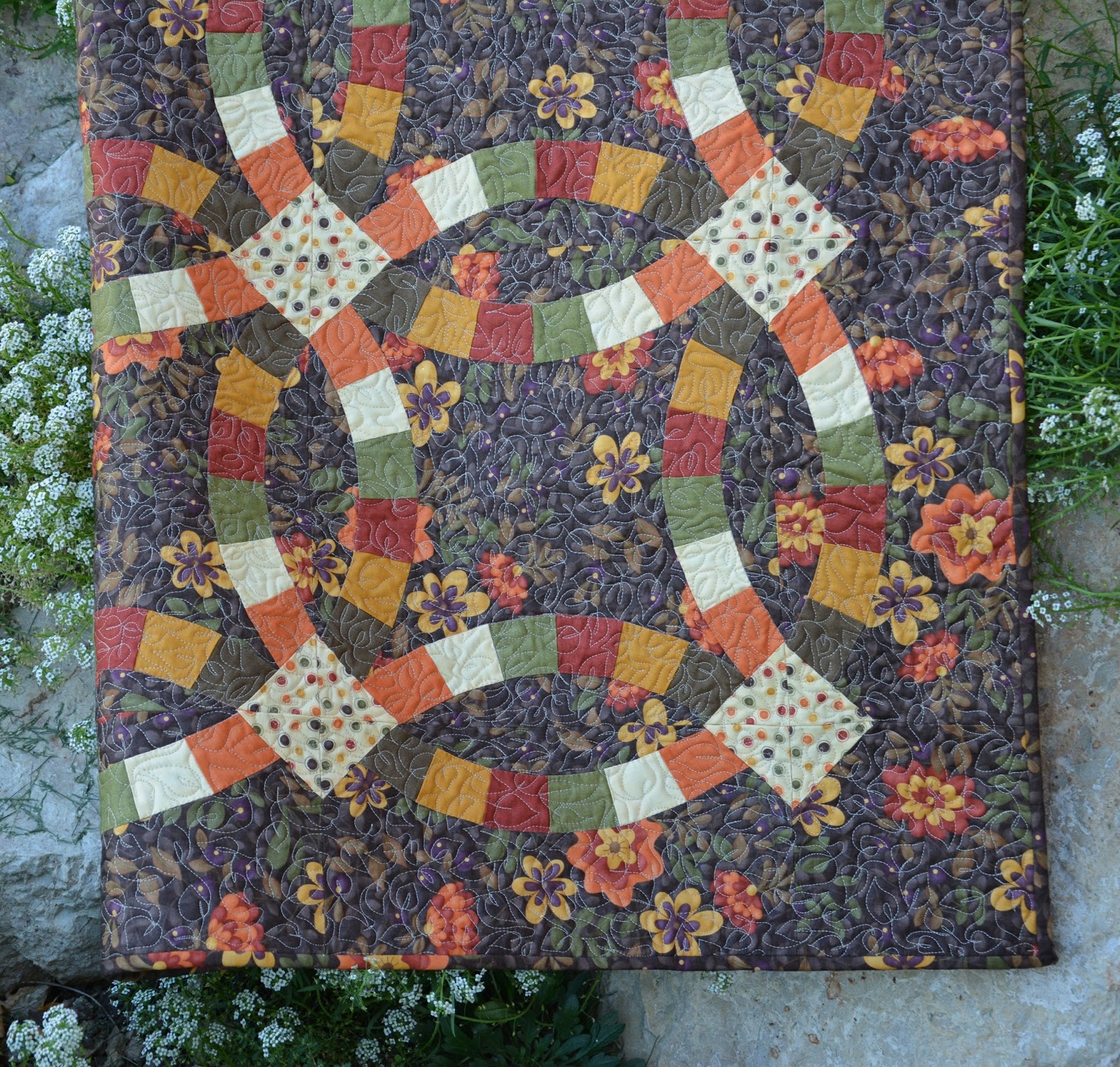Wedding Ring Quilts: Pieced Brain: Wedding Rings Quilt