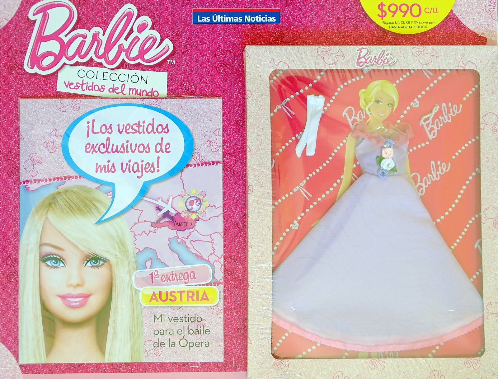 que bonito Yohanita!: Barbie, Colección Vestidos del Mundo: Austria