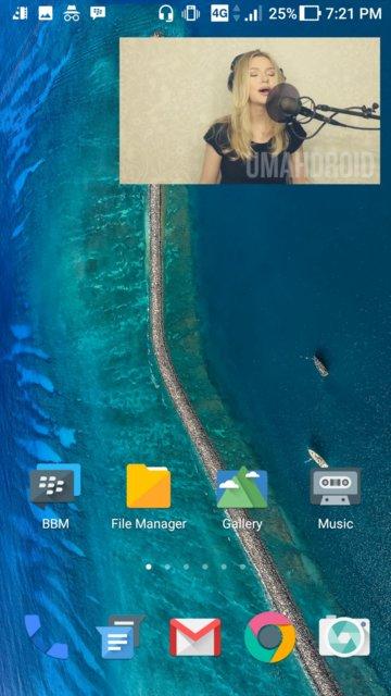 Ukurannya ponsel yang dapat nyelip dimana Tutorial Menonton Video Melayang / Floating di Android